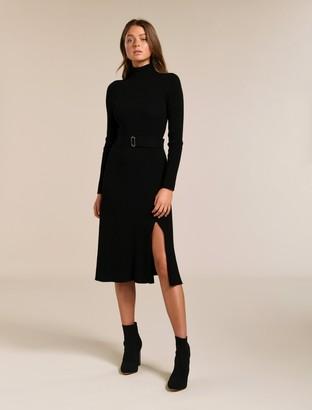 Forever New Stephanie Rib Midi Knit Dress - Black - 16