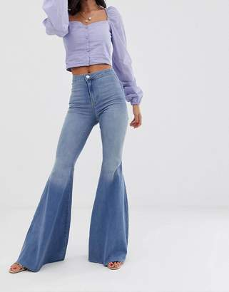 We The Free By Free People by Free People Just Float On high waist flare jean-Blue
