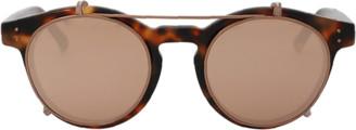 Linda Farrow Brow Bar Rounded Sunglasses