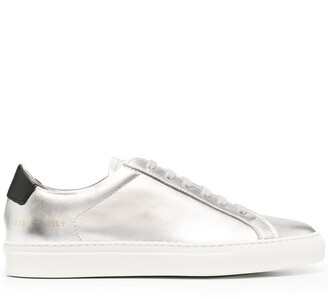 Common Projects Metallic-Tone Lace-Up Trainers