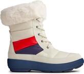 Sperry Women's Bearing PlushWave Boots Nautical Stripe Nylon Snow