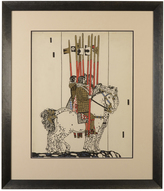 Rejuvenation Original Illustration of Knights on Horseback c1935