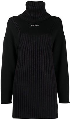 Off-White Mini Dress Motif Sweater