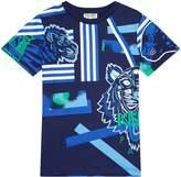 Kenzo Tigerand LogoT-shirt, Navy, 3 Years