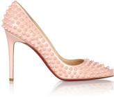 Christian Louboutin Pigalle Spikes 100 patent-leather pumps