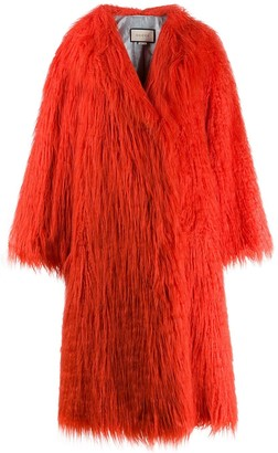Gucci Faux Fur Shaggy Coat
