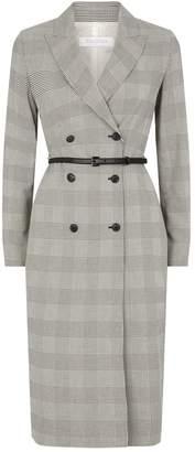Max Mara Belted Check Blazer Dress