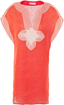 Tory Burch Embroidered Linen-gauze Kaftan