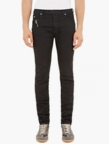 Maison Margiela Black Zip-Detail Skinny Jeans