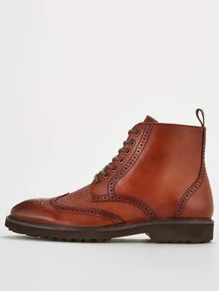 Office Benedict Brogue Boots - Brown