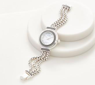 Ecclissi Sterling Silver Multi-Strand Box Chain Watch