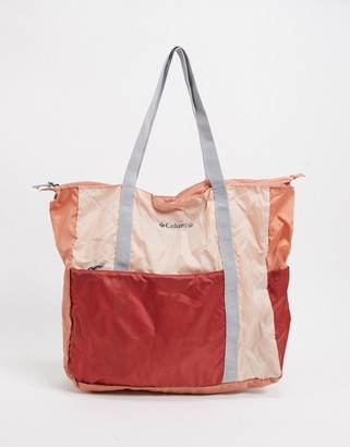 Columbia Lightweight Packable 21l tote bag in pink