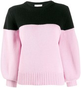 Alexander McQueen colour-block cashmere jumper