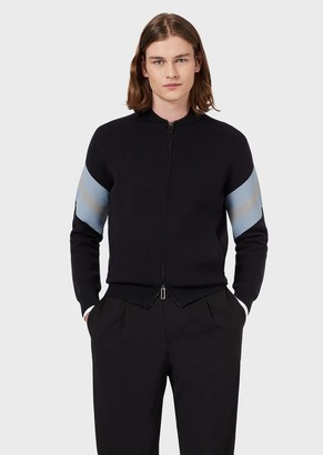 Emporio Armani Milano-Stitch Knit Bomber Jacket