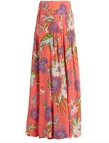 Diane von Furstenberg Floral-print silk wrap skirt