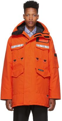 Junya Watanabe Orange Canada Goose Edition Down Parka