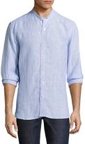 Toscano Mandarin Collar Linen Sportshirt