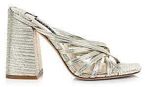 Alice + Olivia Women's Paven Metallic Block-Heel Slide Sandals