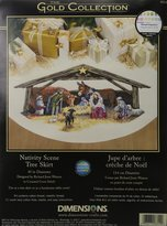 Dimensions Needlecrafts Counted Cross Stitch, Nativity Scene Tree Skirt