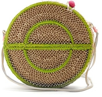 Sophie Anderson Nilsa Circle Toquilla Straw Cross Body Bag - Womens - Cream Multi