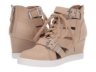 Linea Paolo Fave Wedge Sneaker (Sand Nubuck Leather) Women's Wedge Shoes