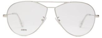 Loewe Round-frame Metal Aviator Glasses - Womens - Silver
