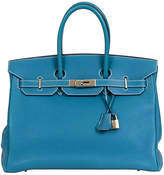One Kings Lane Vintage Hermès Birkin Blue Jean 35cm Togo