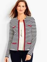 Talbots Stripe Sweater Jacket