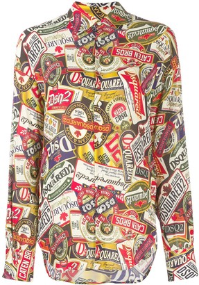 DSQUARED2 all-over print shirt
