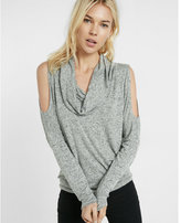 Express one eleven cowl neck cold shoulder tunic