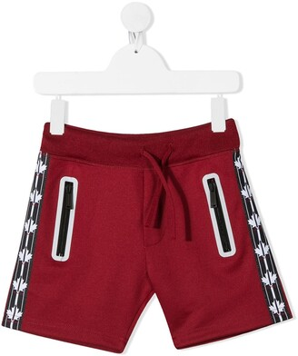 DSQUARED2 Logo Stripe Track Shorts