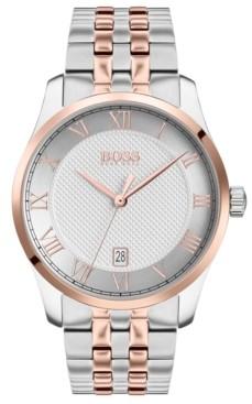 BOSS Men's Master Two-Tone Stainless Steel Bracelet Watch 41mm