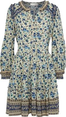 Sea Ruffle-trimmed Printed Silk Crepe De Chine Dress