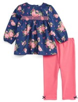 Little Me Infant Girl's Rose Tunic & Leggings Set