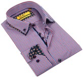 Brio Checker Tailor Fit Dress Shirt