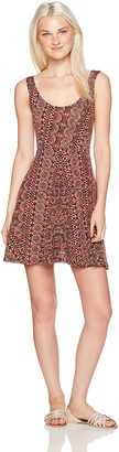 Angie Women's Burgundy Skater Dress