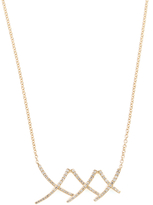 Rina Limor Fine Jewelry 14K Yellow Gold & 0.23 Total Ct. Diamond Criss Cross Necklace
