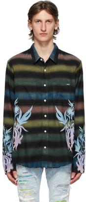 Amiri Multicolor Flannel Leaves Shirt