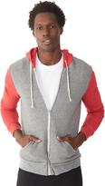 Alternative Rocky Color-Block Eco-Fleece Zip Hoodie