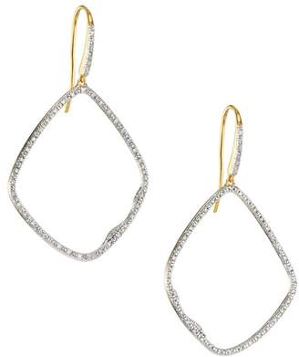 Monica Vinader Riva 18K Yellow Goldplated & Diamond Pave Large Cocktail Hoop Earrings