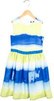 MSGM Girls' Printed A-Line Dress