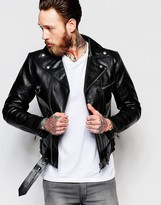 Nudie Jeans Ziggy Leather Biker Jacket