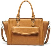 Sole Society Johnson medium satchel with front pocket
