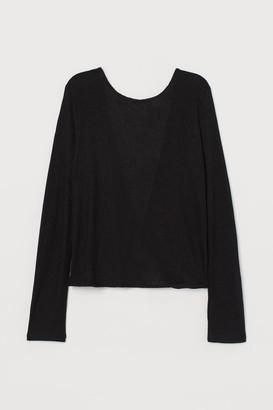 H&M Rib-knit Top - Black
