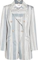 Zimmermann Havoc striped cotton and silk-blend canvas playsuit