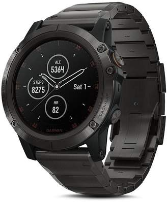 Garmin fenix 5X Plus Sapphire Premium Multisport GPS Smartwatch with Titanium Strap, 51mm
