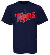 Majestic Men's Big and Tall Minnesota Twins Official Wordmark T-Shirt