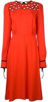 MSGM embellished yoke midi dress