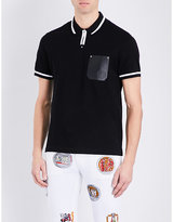 Versace Leather Pocket Pure Cotton Polo Shirt