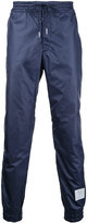 Thom Browne elasticated cuffs track pants - men - Polyester - 0